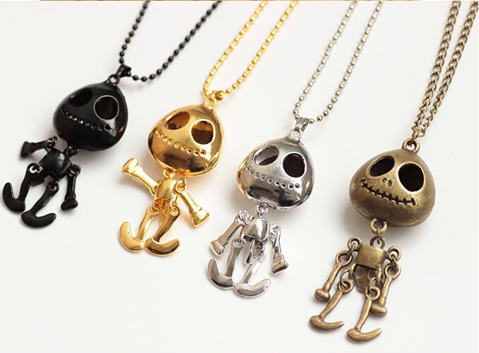 N157 4 Style Vintage Jewelry big eyes UFO Alien Skull Head Pendants Long Sweater Chain Necklaces for Women Free Shipping #119(China (Mainland))