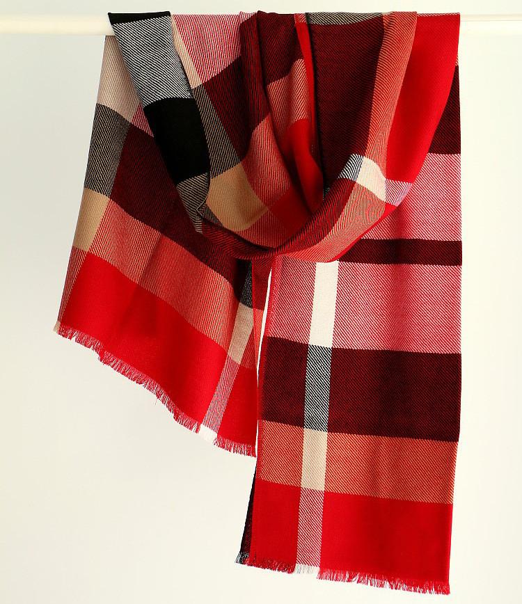 High Quality Fashion Unisex Wool Winter Scarf Women Scarfs British Style Plaid Shawls and Scarves for Men Black Red Plaid