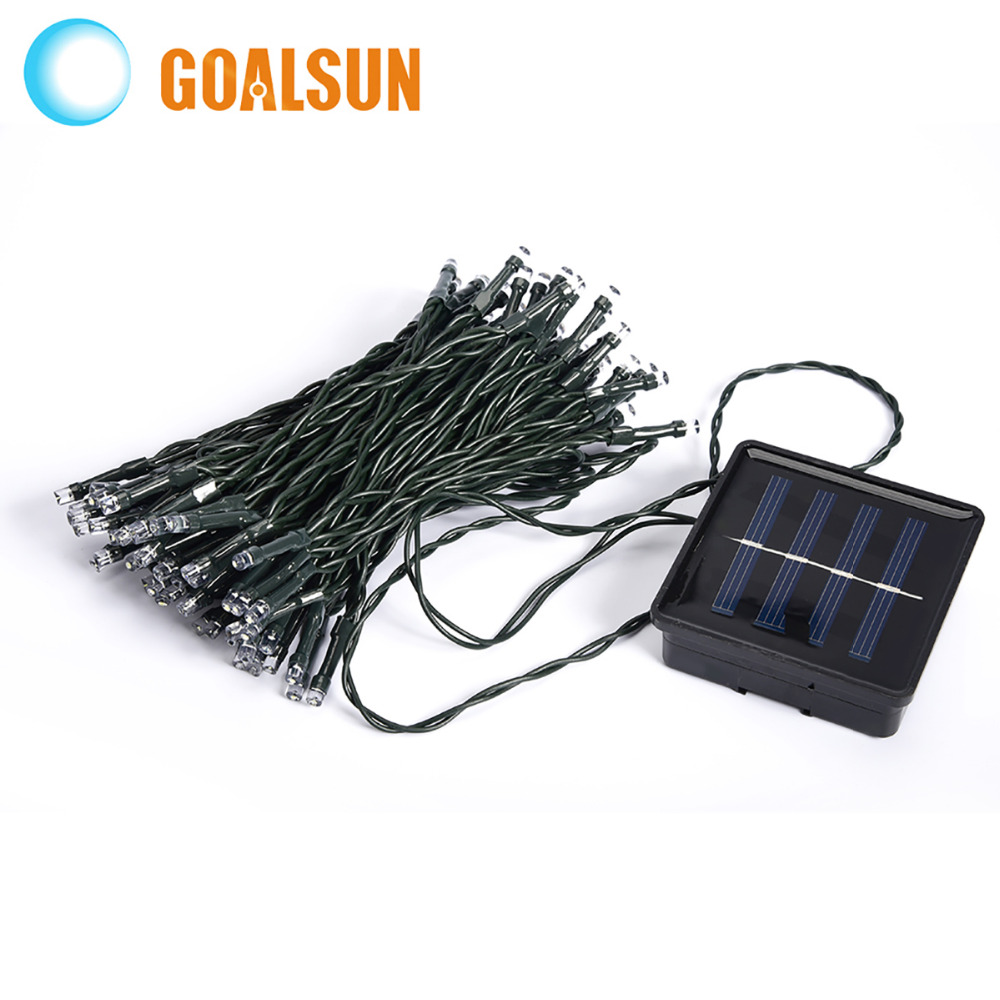 Blue White Warm White Multicolor 10M 120 LED Solar Lights String Fairy Outdoor Garden Waterproof Christmas Party Decoration Lamp<br><br>Aliexpress