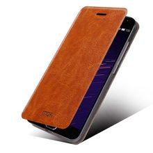 Meizu MX5 case, MOFI Brand Rui Series Steel Plate Inside flip+Soft TPU Back cover case for Meizu MX5 Free Shipping