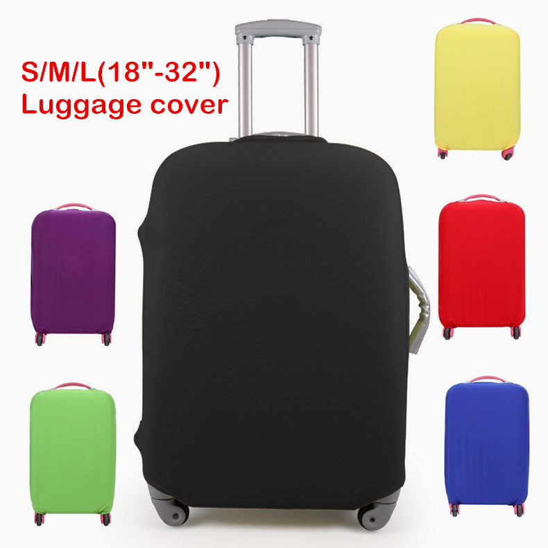 Travel Suitcase Waterproof Protective Cover Luggage Cover Elastic Stretch Apply to 18 to 32 Inch luggage travel bags travel kit(China (Mainland))