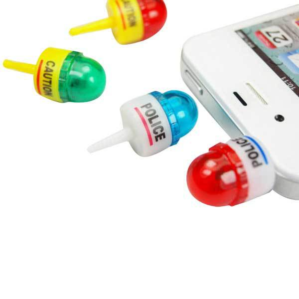 BlueHills 3.5mm Whistle Model LED Flash Dustproof Plug For Mobile Phone MP4 MP3(China (Mainland))