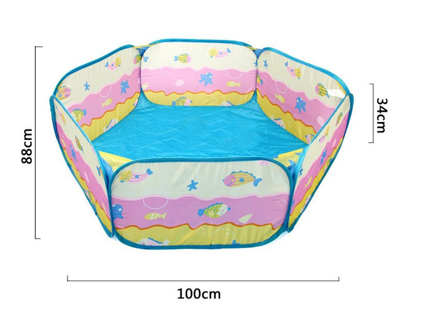 Haute qualit polyester tissu portable pliage enfants for Piscine transportable