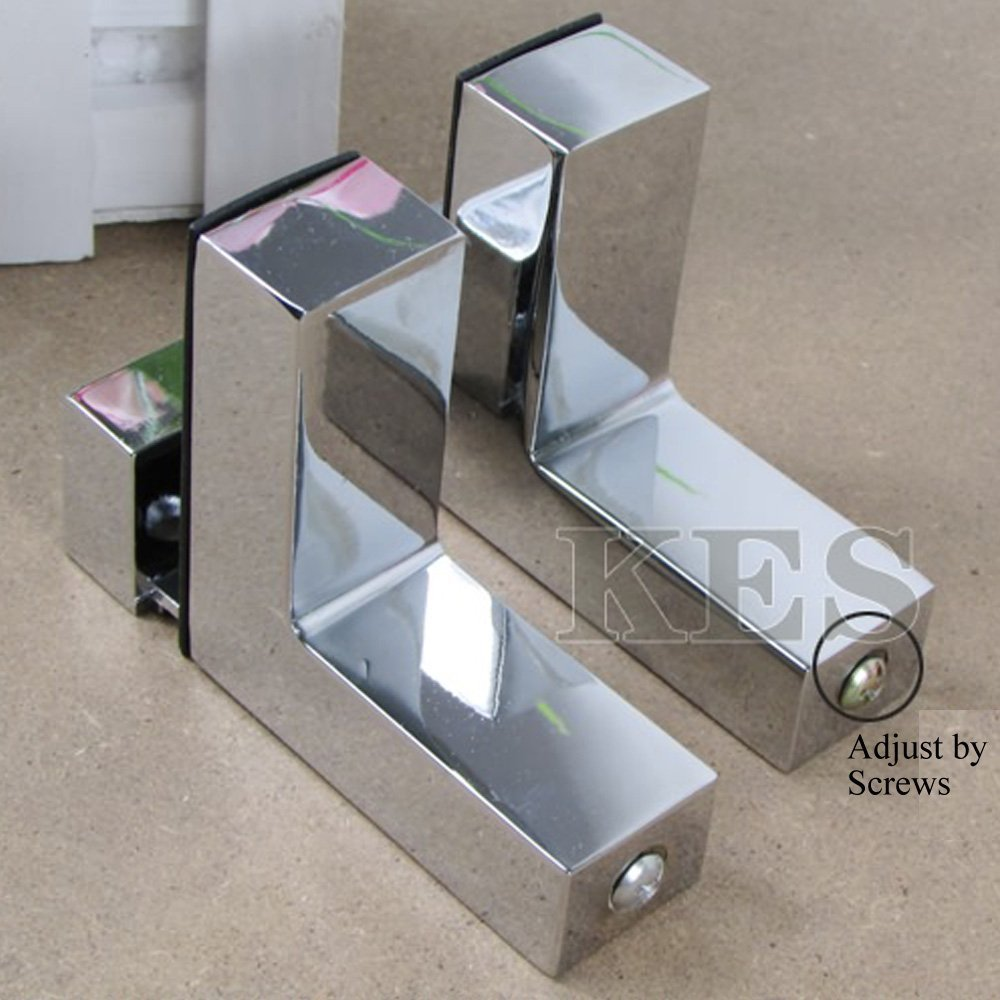 kes hsb301a p2 solid metal adjustable wood glass shelf. Black Bedroom Furniture Sets. Home Design Ideas