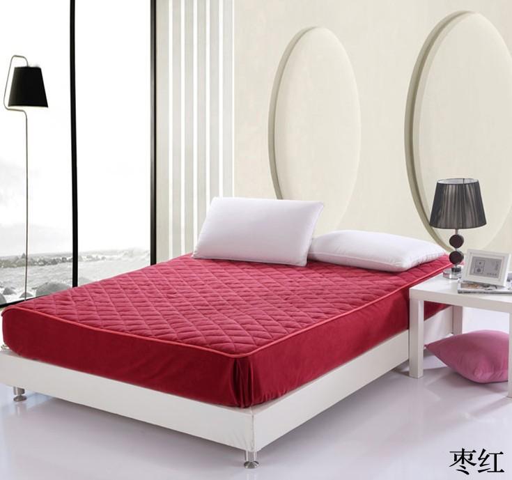 bedding set solid color coral velvet mattress mattress