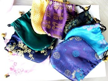 best price for Gift bag   Jewelry Pouch/bag 13 X 13cm chinese  silk bag/pouch