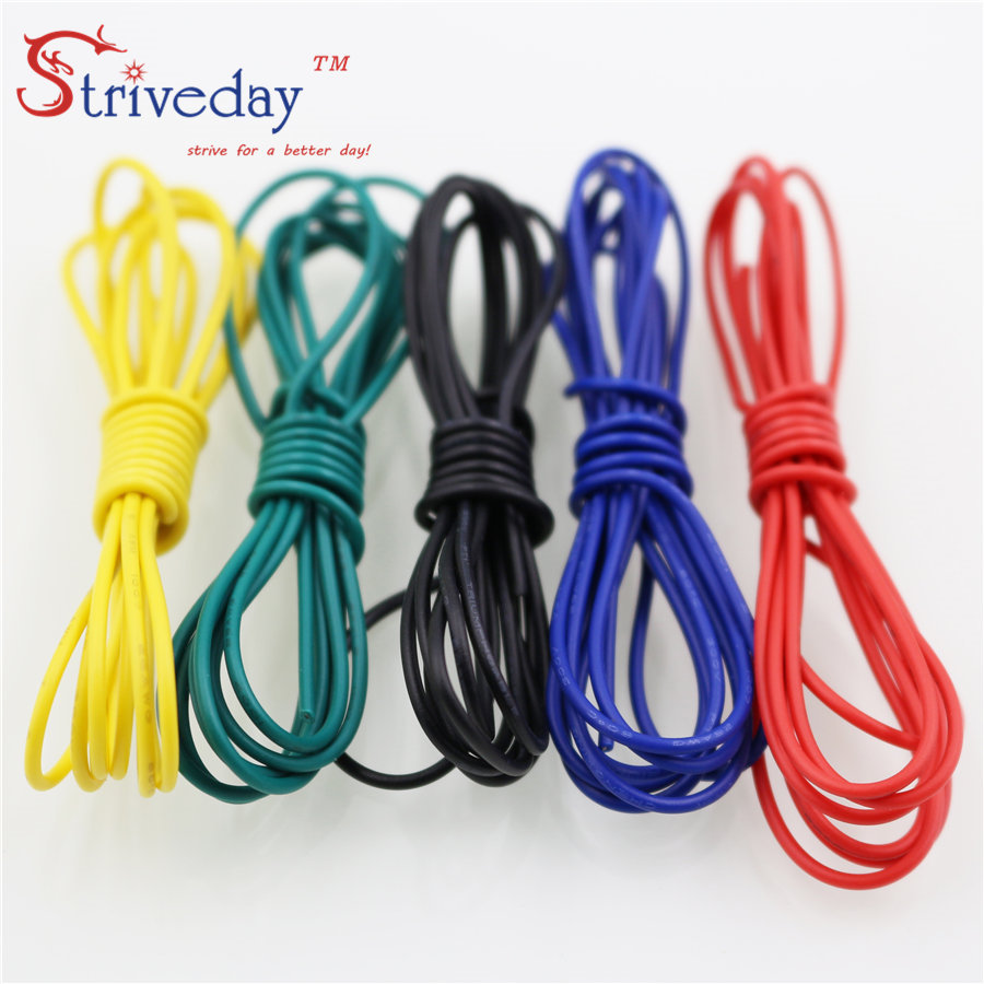 Striveday 1007 18 AWG Cable Copper Wire 1 Meter Red /Blue /Green/ Black / 18awg Electrical Wires Cables DIY Equipment Wire(China (Mainland))