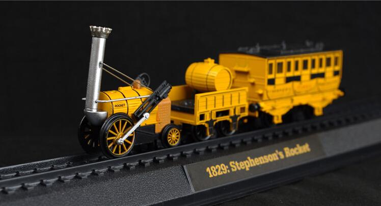 1/76 AM ER Retro Steam Train resin model 1829: STEPHENSON Rocket Yellow locomotive Favorite gift(China (Mainland))