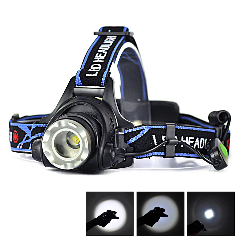 New Hot 2000LM XM-L T6 LED Zoomable Headlight Headlamp Head Torch Light Flashlight Lanterna For Camping Fishing Cycling(China (Mainland))