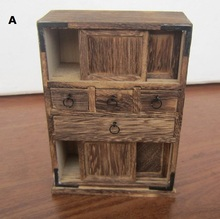 Handmade Antique Wooden Cabinet Living Room Ornament New Home Mini Furniture Model Nostalgia(China (Mainland))