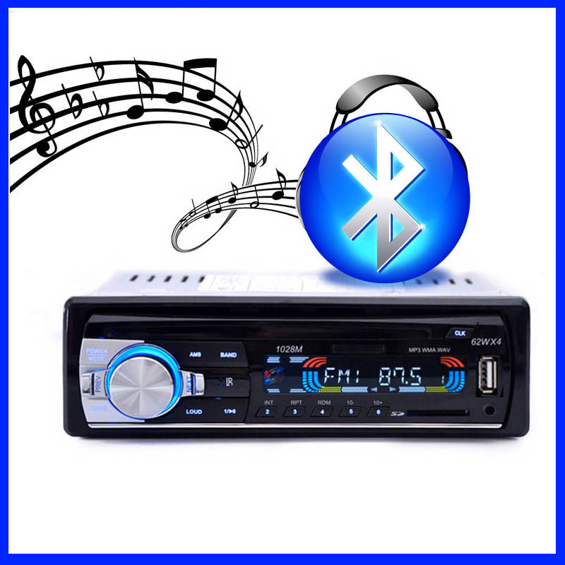 2016 New Car Radio MP3 FM/USB/1 Din/Remote Control/USB port 12V Car Audio Bluetooth 1 din auto radio Blueooth Aux in Radio Coche(China (Mainland))