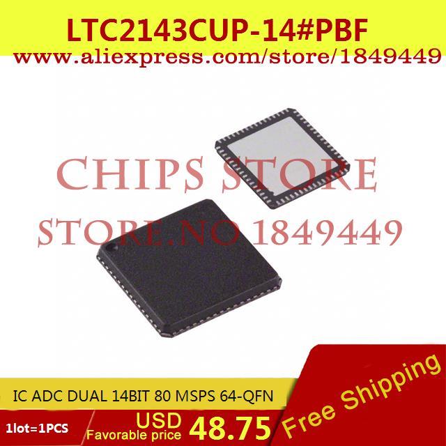 Бесплатная Доставка Электронные Компоненты в Исходном LTC2143CUP-14 # PBF IC ADC DUAL 14BIT 80 MSPS 64-QFN LTC2143CUP-14 2143 LTC2143 1 ШТ.  ltc2203cuk pbf ic ацп 16 битный 25msps 48 qfn ltc2203cuk 2203 ltc2203 ltc2203c ltc2203cu 2203c
