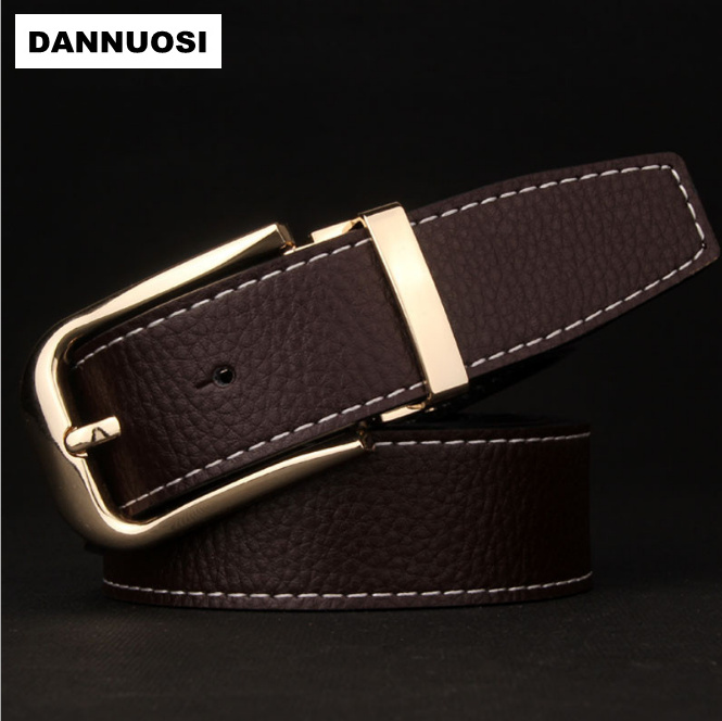 [DANNUOSI] 100% pure leather men's pin buckle belt new upscale boutique belt leather belt casual fashion jeans brand belt(China (Mainland))
