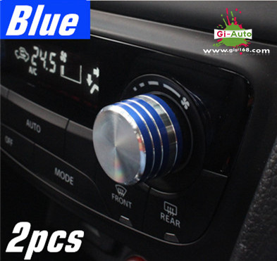 NEW Arrival!suzuki VITARA accessory STAINLESS air condition adjust switch control trim 2p RED/BLUE(China (Mainland))