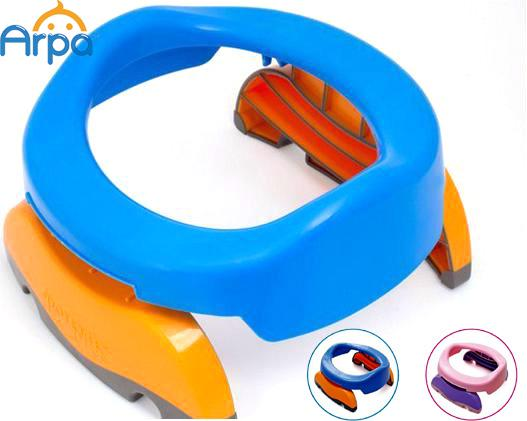 Baby Infant Chamber Pots Foldaway Portable Toilet Training Seat Potty Ring, Indoor & Outdoor Travel Set, Blue , Free Liners(China (Mainland))