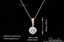 OL Style Cubic Zirconia Chain Necklaces Pendants 18K Rose Gold Plated Fashion CZ Diamond Wedding Jewelry