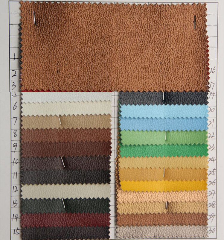 Litchi embossed pvc imitation leather material high quality pvc synthetic leather factory wholesale leather fabric meter(China (Mainland))