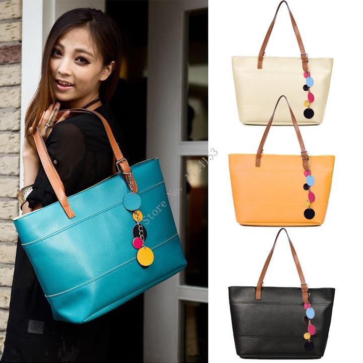 hot Sale Women's Fashion Leather Cute Shoulder Bag Shopper Tote Bag Valentine Bags(China (Mainland))