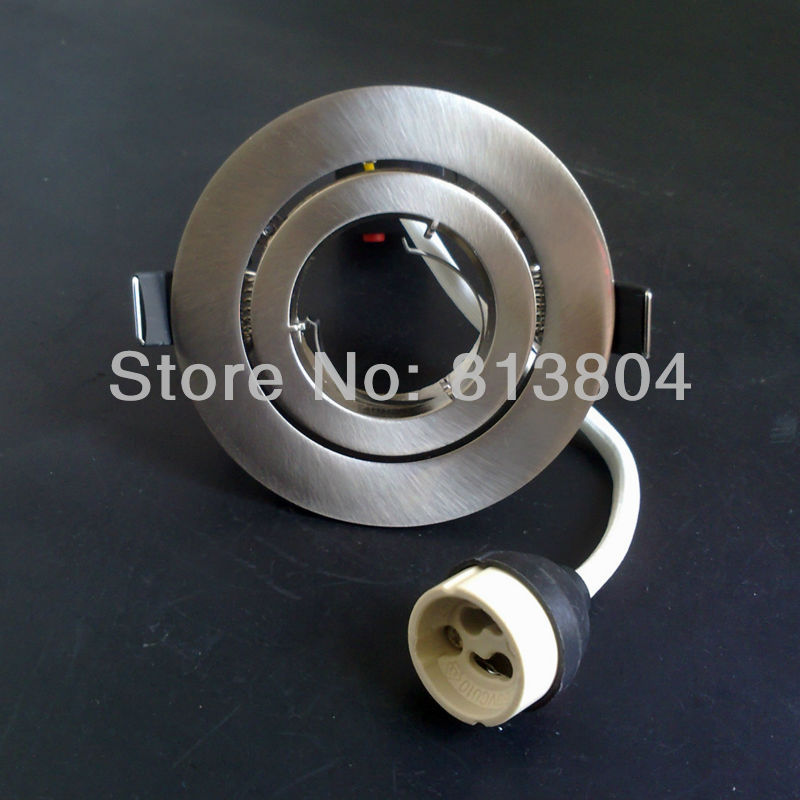 Free shipping Ceiling spot light aluminium body double ring without lamp source /Single Rotation /GU10/MR16 lamp socket(China (Mainland))