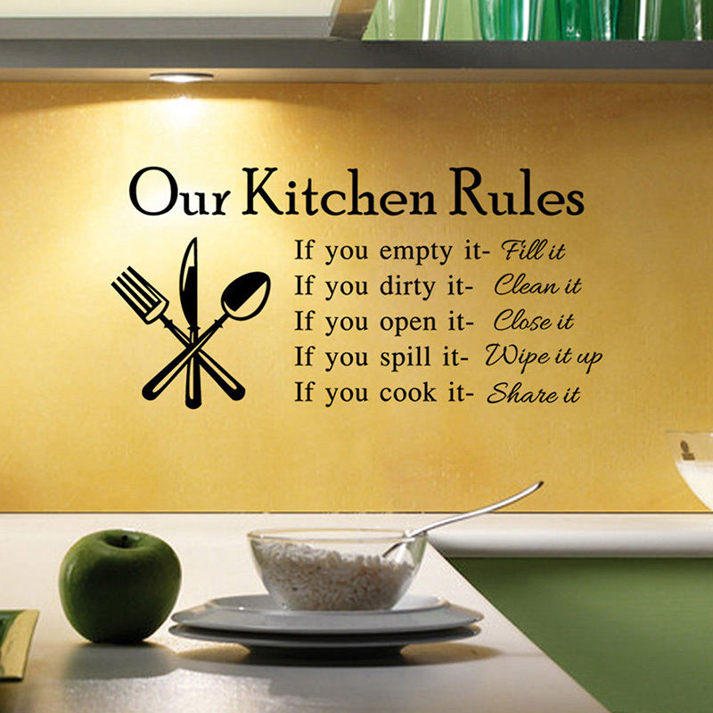 Our Kitchen Rules Wall Stickers Free Shipping Worldwide