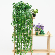 New Delightful Natural 1Pc 8.2Feet Artificial Ivy Leaves Plants Vine Fake Foliage Flowers Home Decor(China (Mainland))