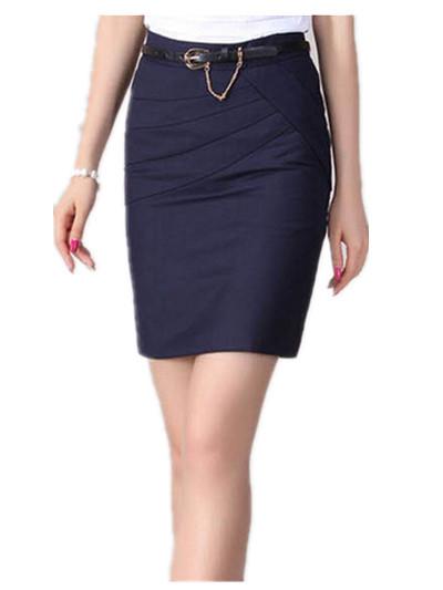 classic womens skirts 4 colors black grey pencil skirt