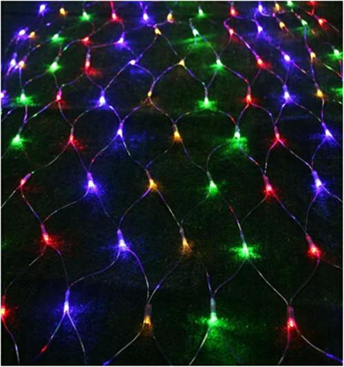 1.5*1.5 M LED curtain lights with 96 leds string light with plug Christmas holidays New year wedding party decoration led lights(China (Mainland))