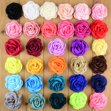 "20Pcs/lot 32 Colors Baby Girls Hair Clips 2"" Satin Rose Flower Hairclip Children Flower Hairpins Cute Headwear Accessories F06(China (Mainland))"