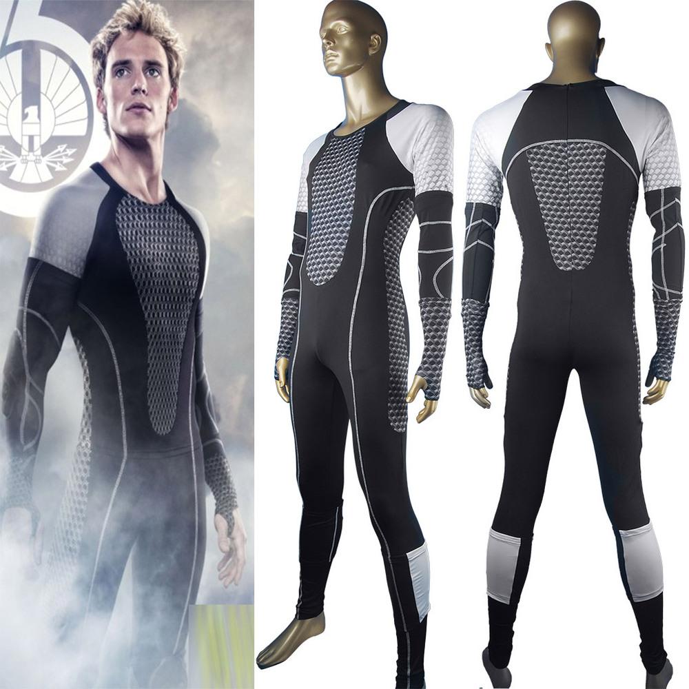 The Hunger Games film cosplay costume uniform for Peeta Mellark Gale Hawthorne Haymitch Abernathy Effie Trinket cosplay costume