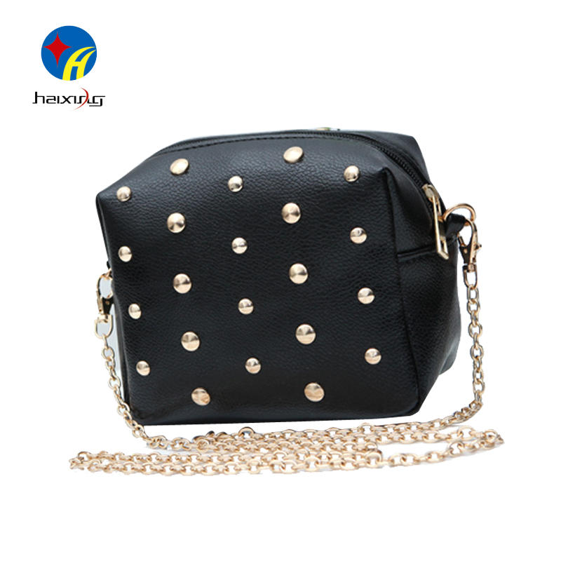 Bolsos Desigual Bag Ladies Small Handbag Over Shoulder Rivet Chain Handbag Women Crossbody Bag Mini Messenger Bags for Female