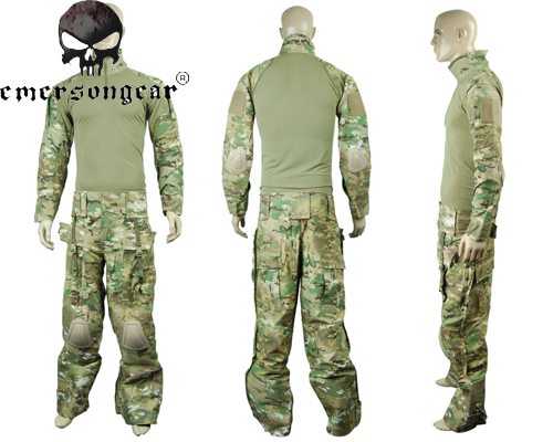 Airsoft Tactical Combat Uniform Shirt Pants with Elbow Knee Pad Lightweight Outdoor Sports Military Paintball Protective Uniform