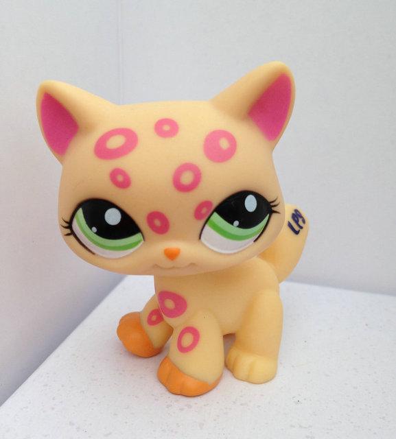 Pet Shop Животные Куклы LPS Рисунок Ребенка Игрушки Gril Кошка DWA219