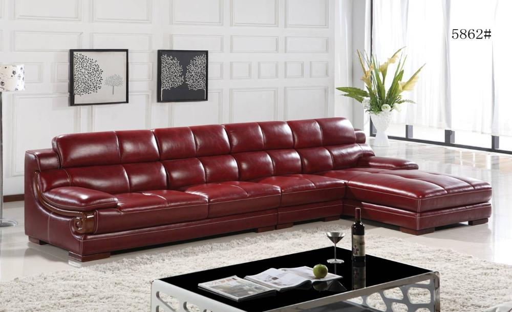 Top and Top Grain Imported Double Color Cattle Leather, Luxury and duration,L shaped 3.6*1.8M Sofa Set,Grand Furniture E301(China (Mainland))