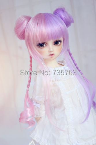xiuli 000425  DOD LUTS Multi-color Long With Two Ponytails cosplay wig<br><br>Aliexpress