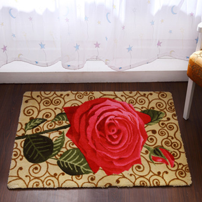 Quality ziwei rose carpet coffee table bedroom carpet bed blankets balcony carpet piaochuang pad(China (Mainland))