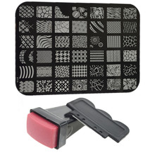 1 pc Stamping Nail plaques + 1 Stamper + Scraper Nail Art Stamp kit de transfert impression Nail Art décoration Stamping manucure outils # NC100(China (Mainland))