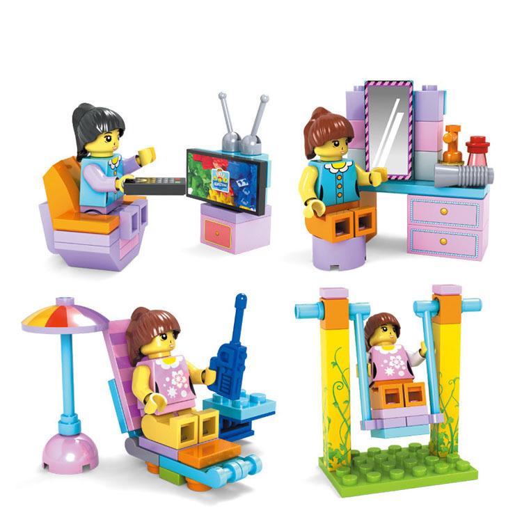 BELA 4pcs/Lot Friends Girls Building Blocks Model Kit,Friends Minifigure Bricks Block Enlighten Train compatible(China (Mainland))