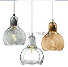 Free Shipping Mini Bulb 3 styles Glass Pendant Light PLL-19(China (Mainland))
