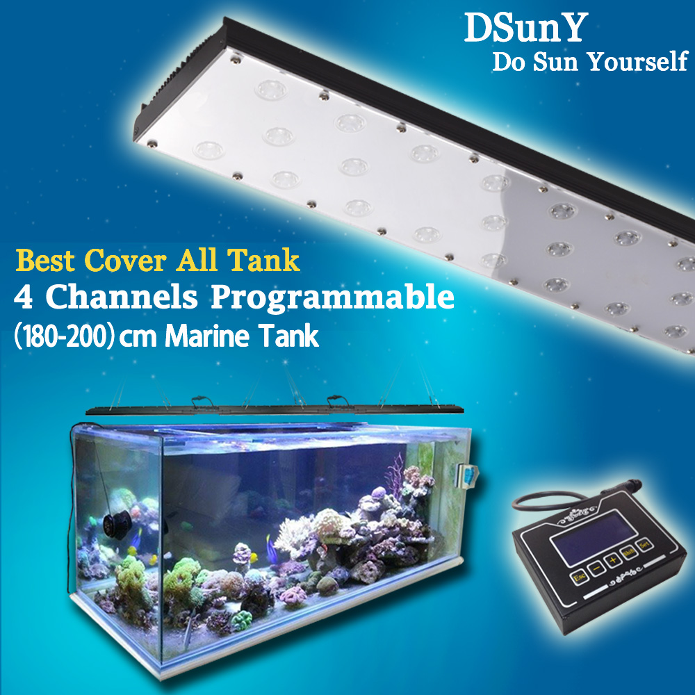 Stock Dimmable Led Aquarium Light 270W coral Reef Tank Lighting for Marine LSP/SPS Growth Fish With 4 Channels, 36'' to 110''(China (Mainland))