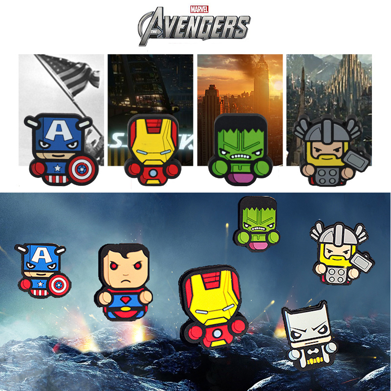 Car Styling Air Freshener Perfumes Cartoon Style The Avengers Star Wars For Captain America Car Air Conditioner Vent Perfume(China (Mainland))