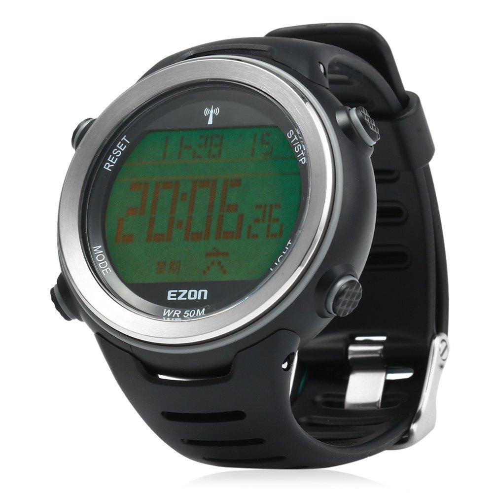 EZON L002 Radio Wave Calibrate Time Digital Watch Men Sports Watch World Time Countdown Timer Waterproof Outdoor Running Watch(China (Mainland))