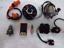 GY6 Motor Assy Starter,Clutch,RECTIFIER,CDI ,STATOR COMPONENT-8, Relay for 139QMB Scooter ATV Go Karts Moped Engine Parts 02