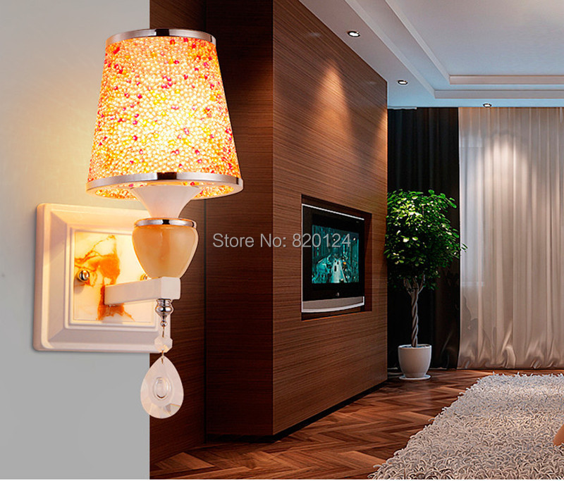 Wall Lamps Europe : 2016 Europe Crystal Wall Light For Stair / Aisle Lighting simple Wall Lamp Resin not Cloth art ...