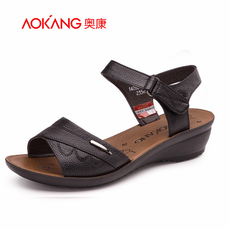 Aokang 2016 Spring New Fashion Basic Women Summer style Shoes comfortable  Sandals women Summer shoes Free shipping<br><br>Aliexpress