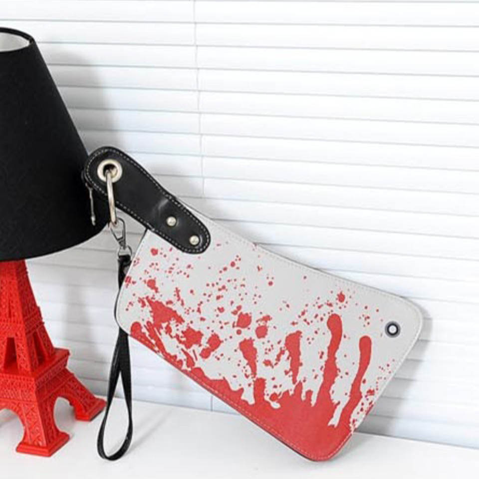 Women messenger bags creative novelty kitchen knife women bag horrible scary tricky handbag girls ladies tote hobo purses wallet(China (Mainland))