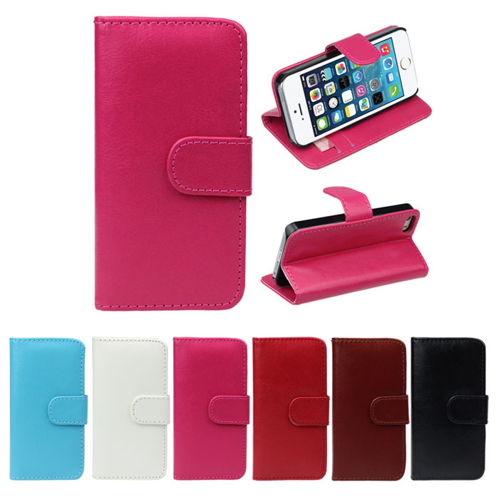 Case Cover Cases Covers Superb! 1PC Retro Leather Wallet Flip Cover Case For iPhone 5 5G 5S(China (Mainland))
