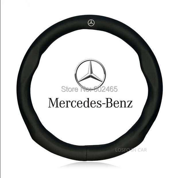 Buy Promotional black cowhide leather steering wheel cover,steering wrap Benz (Fits GLK350/R300/S300/E350/ML450 ) - BEKAS Auto Accessories Co.,Ltd store
