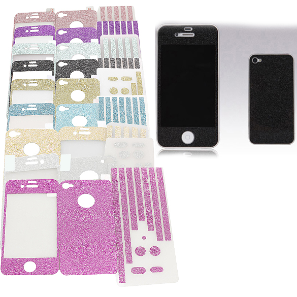 Fashion Smooth Full Body Front + Back + Rim Decal Protector Skin Sticker For Apple iPhone 4 4G 4S ES88(China (Mainland))