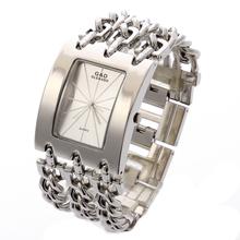 G & D mulheres de pulso de quartzo relógio pulseira da moda relógio vestido Relogio Feminino Saat presentes Top marca de luxo Reloj Mujer prata