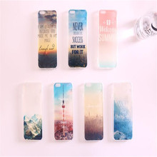 New Landscape series pattern two-in-one PMMA material back cover case for iphone6 6s 4.7″ & 6 plus 6s plus 5.5″ phone case